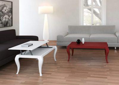 mesas de centro y auxiliar - muebles lux